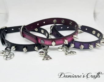 Wicca Kawaii Pink For Witch Familiar Collar Unicorn Witch Cat Collar Pet Cat Lover Pagan Cat Collar