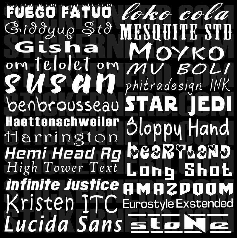 Custom Windshield Decals Word and Number Car Truck Window Custom Stickers Windshield Decal Custom Car Decal Company Name Decals Personalized