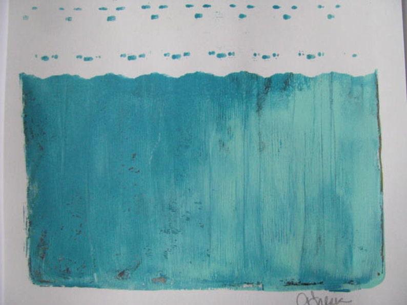 Blues Stripe Lace Gelli Print Size 8 x 10