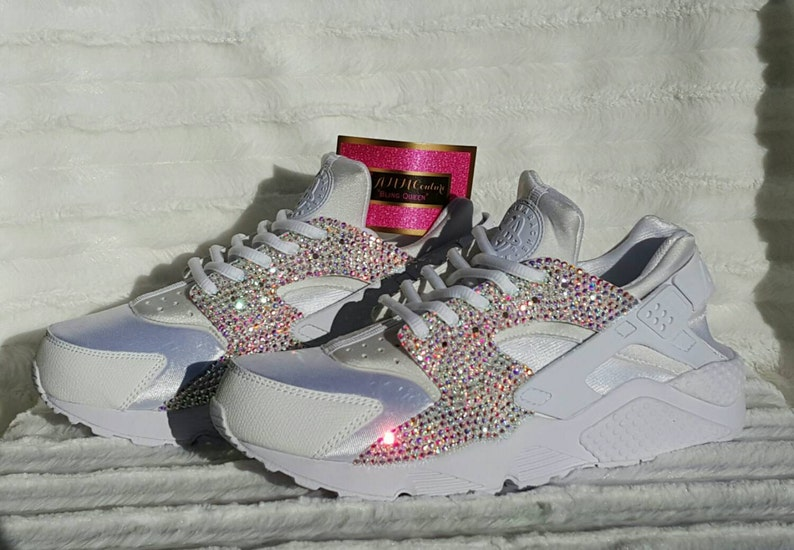 a6926d84d98d8a Custom Nikes Custom Huaraches Nikes Bling Nikes Bling