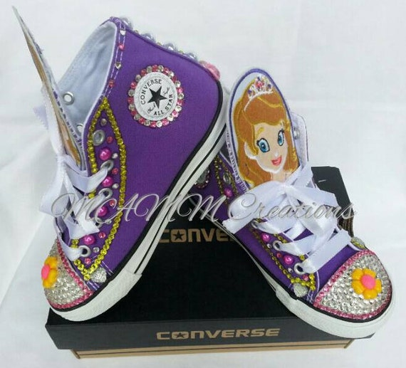 ea04d7792cf Bling converse sofia the first outfit bling chucks princess