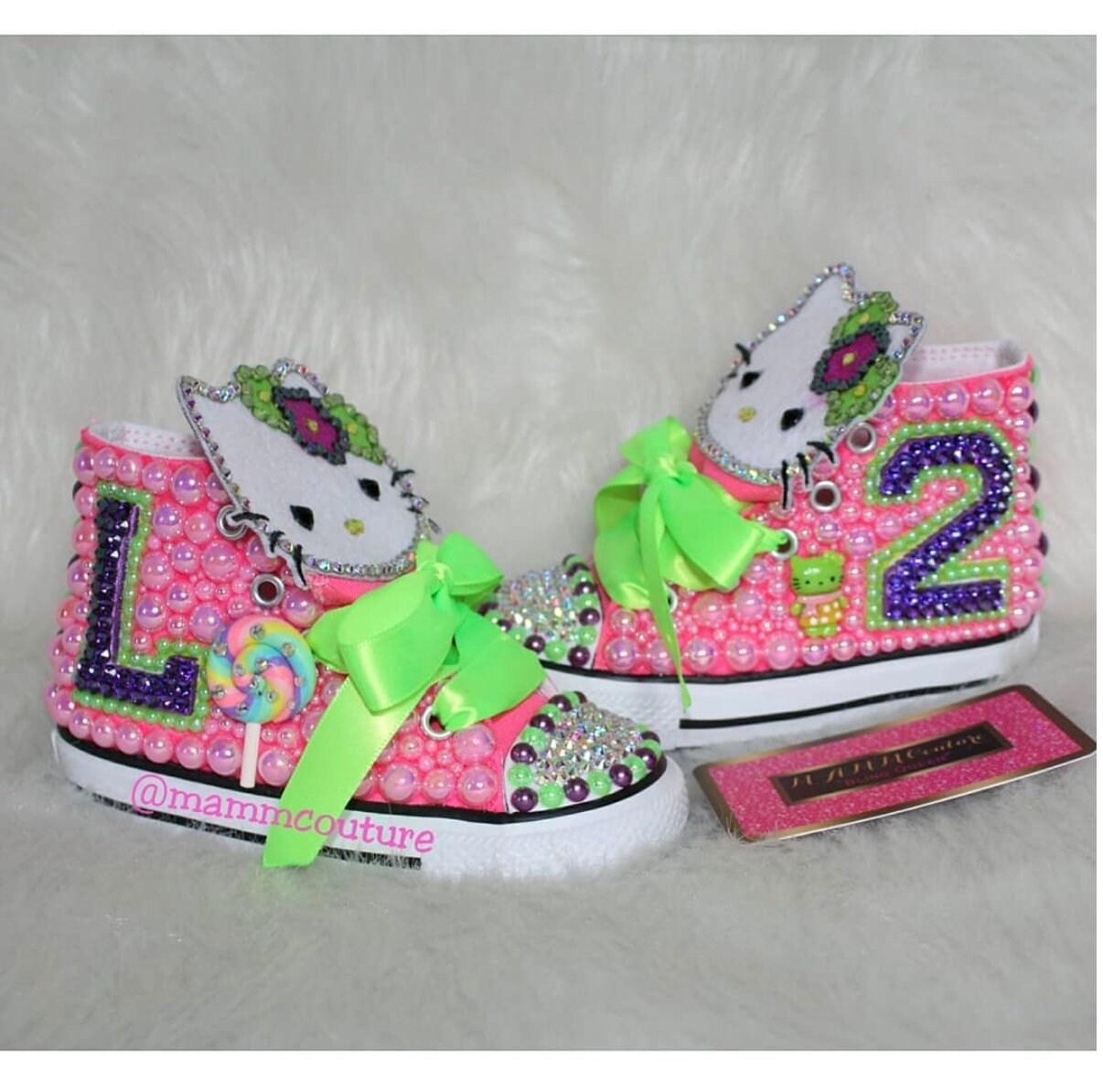 ad6ba62c0e Hello Kitty Shoes Hello Kitty Converse hello kitty outfit | Etsy