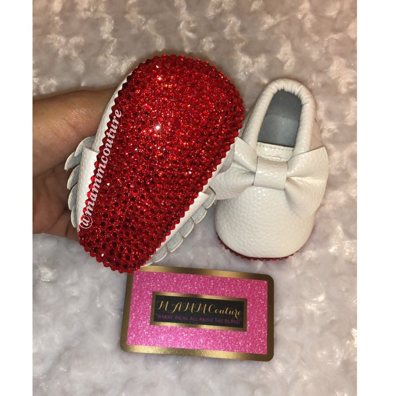 bfd917d1137 Baby red bottom bling shoes infant red bottom shoes newborn | Etsy