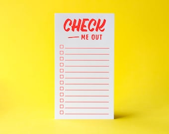 Neon Checklist Pad