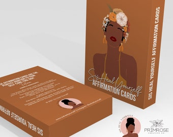 Affirmation Cards, Self-Love, Success, Healing, Black Women, Self Care, Affirmations, Therapist Resource,