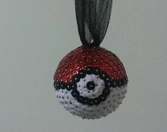 Pokemon Poke ball Hand-made Sequin Christmas Ornament