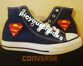 d1350038df2c Toddler Kids SUPERMAN chucks