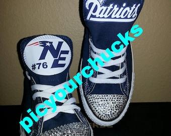Adult New England Patriots Custom Converse