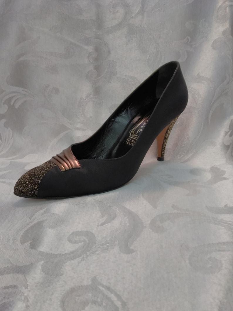 HeelsGold VenezuelaSize Us1980's 12 Emeli Inch BlackMade And 7 Leather3 Dress ShoesAll RodinWomens In vOmN0wyn8P