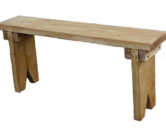 Grandma's plank bench bench seat garden bench bench Flower Bank Kaminbank Bank Rustic house shabby chic solid wood