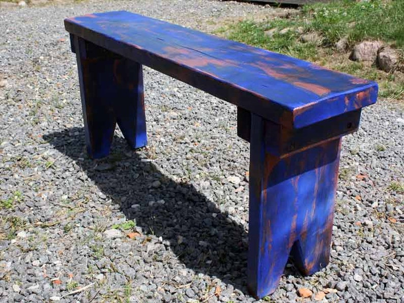 Astounding Grandmas Wooden Bench Garden Bank Flower Bench Plank Bank Deco Bank Farmer Bank Stove Bench Kaminbank Solid Wood Shabby Chic Country House Blue 98 Cm Unemploymentrelief Wooden Chair Designs For Living Room Unemploymentrelieforg