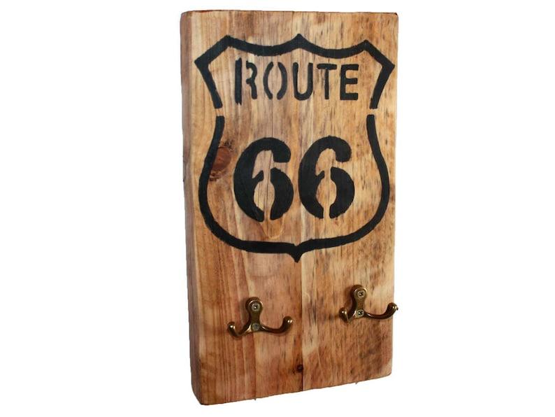 Wandgarderobe Route 66 II Garderobe Modern Wandpaneel Flurgarderobe