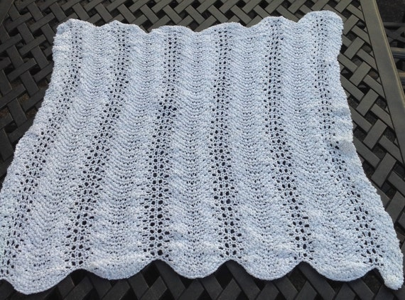 Lacy White Baby Blanketfeather And Fan Baby Blanket Etsy