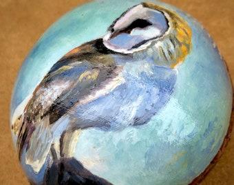 WISDOM of the OWL {Arthur Herring Collaboration} - Native American, Music Instrument, Rattle, Healer, Prayer, Art, Original