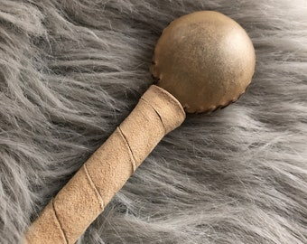 BABY RATTLE - Native American Rattle, Soft Deer Leather, Baby Shower Gift, Infant Toy, Mommy-to-Be - Babies/Infants/Newborn