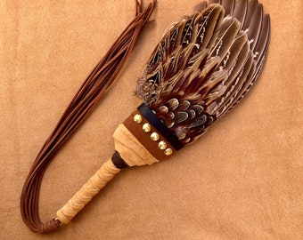 FAN of BLESSING - PHEASANT - Wings of Consecration, Blessing, Sacred Smoke, Prayer Fan, Qodesh Fire, Incense, Clean Birds, Feathers