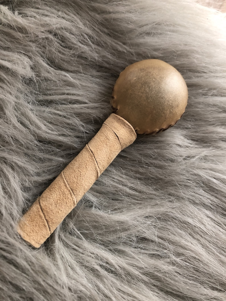 BABY RATTLE  Native American Rattle Soft Deer Leather Baby image 1