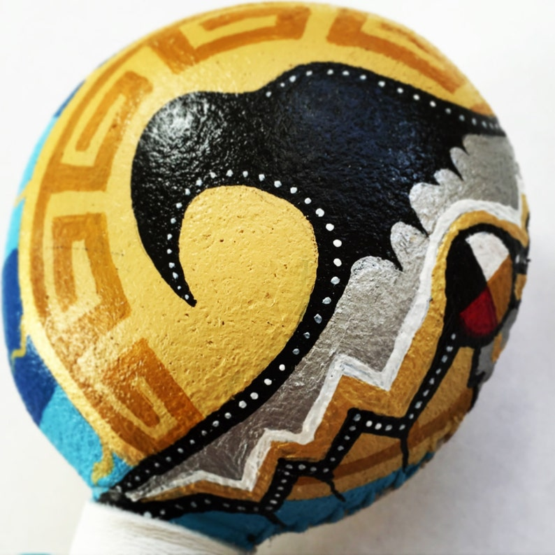 THUNDERBIRD SPIRIT  Native American Shaman Rattle Medicine image 0