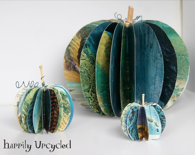 DIY Craft Kit: Book Page Pumpkins