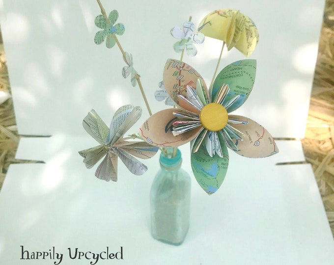 DIY Craft Kit: Mini Map Bouquet