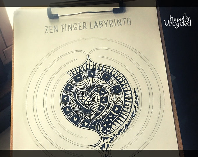 DIY Finger Labyrinth (Printable Coloring Page & Mindfulness Tool)