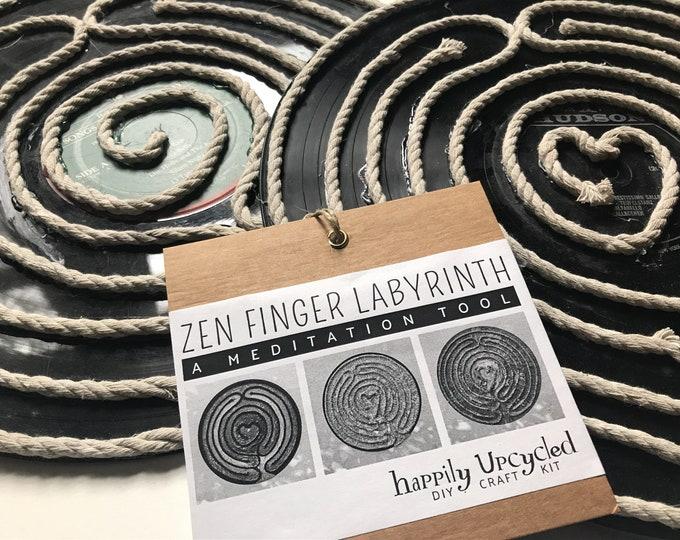 DIY Craft Kit: Upcycled Zen Finger Labyrinth