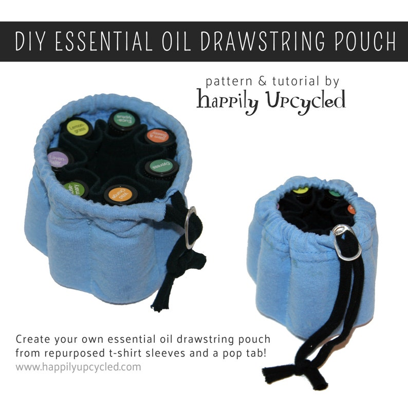 Essential Oil Drawstring Pouch Pattern image 0