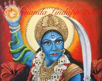 "NEW A4 ""goddess Kali"" Print"