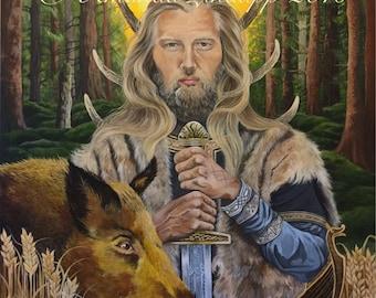 "A4 ""Norse God Freyr AND Freya"" Prints."