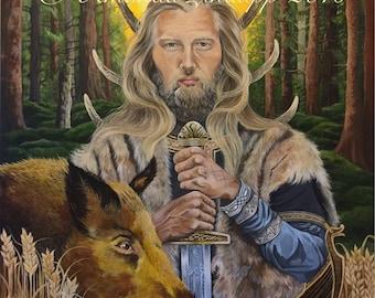 Norse God Freyr Greeting Card