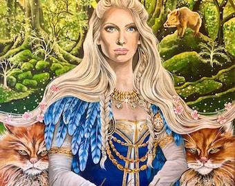 "NEW A4 ""Norse Goddess Freya"" Print"