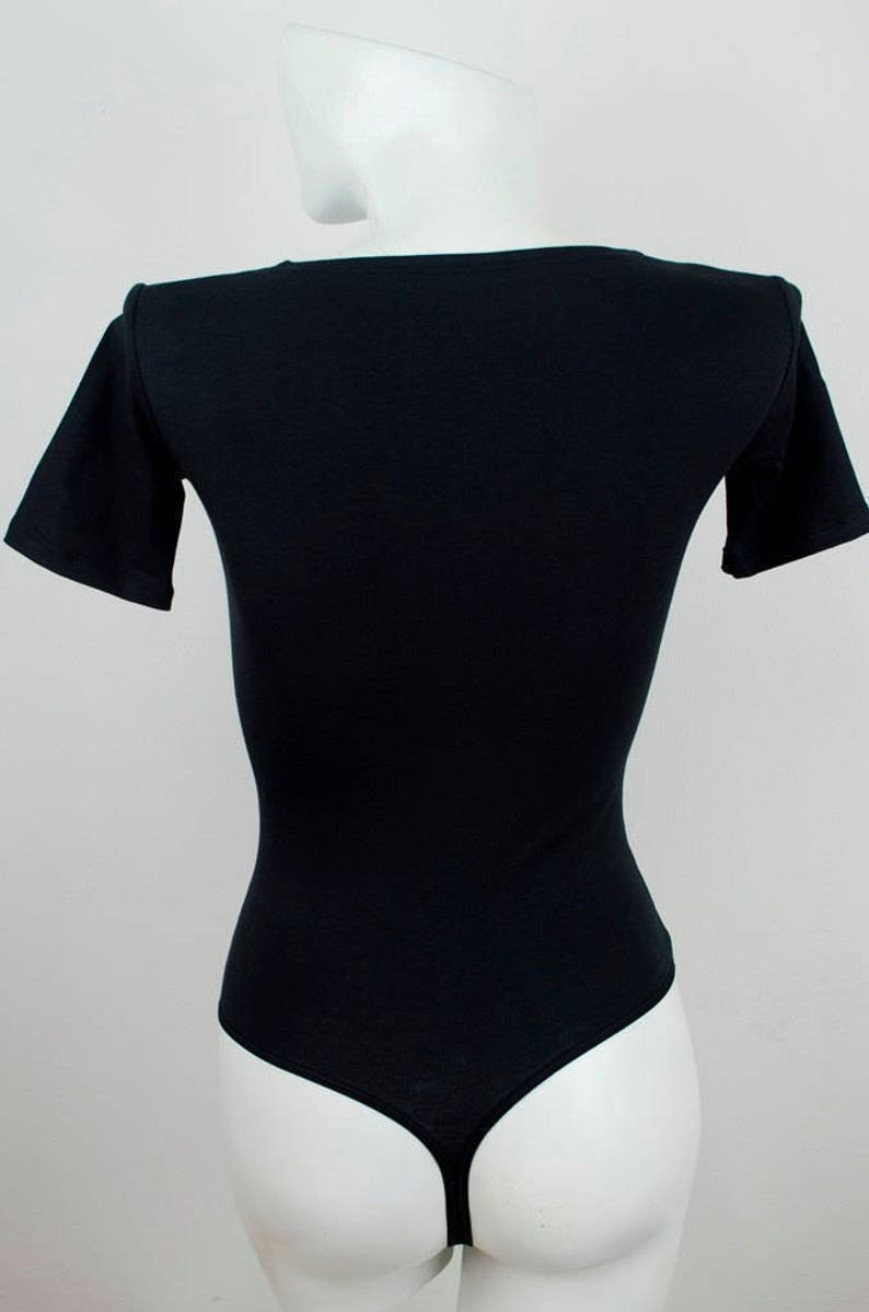 Customized Women Bodysuit Short Sleeve /'Pretty/' Top Blouse Personalized Body Outfit Thong Style Body Suit
