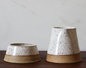 Taper Sugar and Creamer Set - White