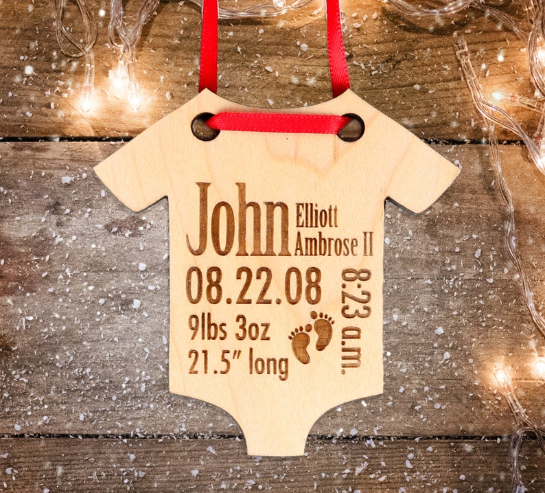 af7d32fc14928 Personalized Baby Christmas Ornament Baby s First