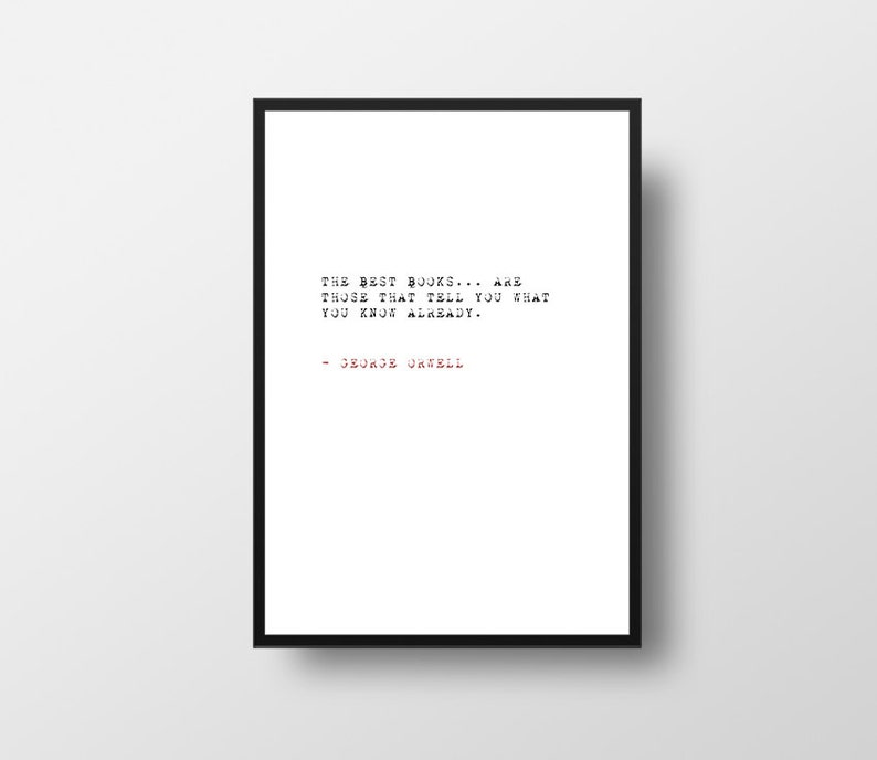 The Best Books George Orwell 1984 Books Quote Black And Etsy