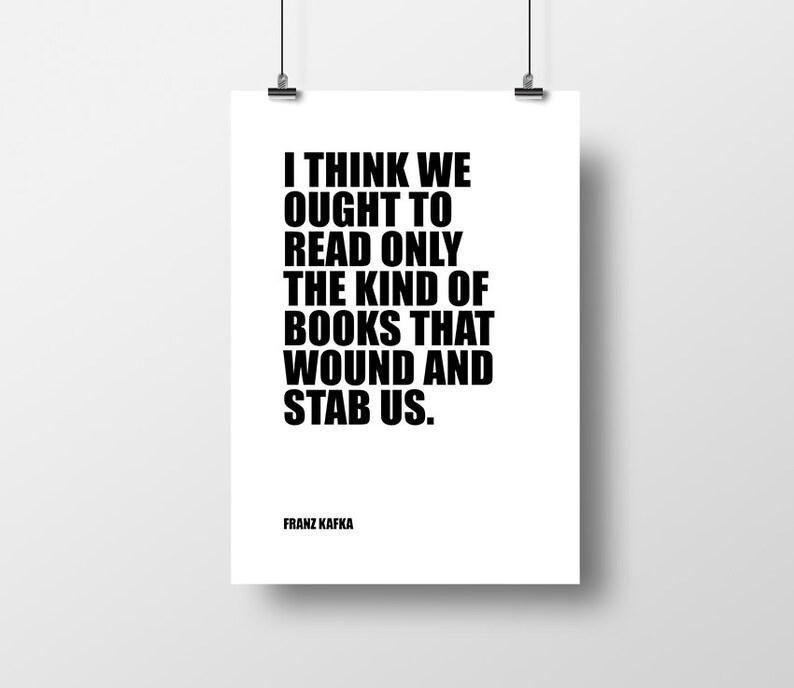 Citaten Over Boeken : Franz kafka op boeken over lezing boeken citaten leren etsy