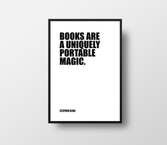 Stephen King Buch Sind Magic Bücher Lesen Zitate Lernen Inspirational Literatur Bibliothek Bücher Zitate über Bücher Wand Dekor