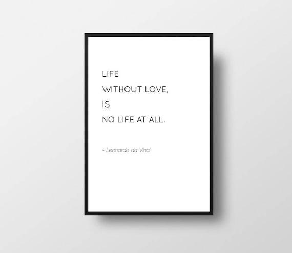 Leonardo Da Vinci Cytat Miłość życia Oferta Książek Minimalistyczny Cytat Czarno Białe Minimal Art Sztuki Współczesnej Nowoczesny Cytat