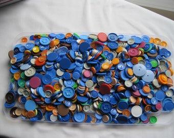 Medicine Vial Cap Caps Lot 1100+ Mixed Size Colors ID Badges Arts & Crafts