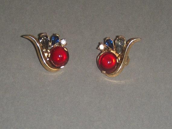TRIFARI Earrings (221) of ruby cabochon earrings,… - image 4