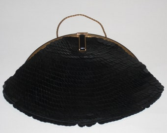 Clutch (40) in black glitter, circa 1950's