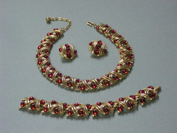 TRIFARI (175) 3-piece set: Necklace, Bracelet - E… - image 1