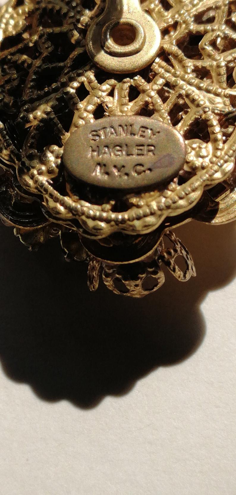 Stanley Hagler by Stanley Hagler N.Y.C Amber hanging earrings 60/'s 244