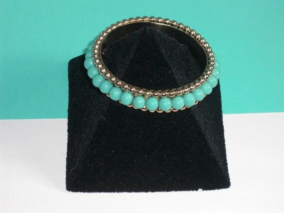 NAPIER Bracelet (69) with turquoise beads, signed