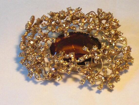 HOBE Broche (74) - Topaz earrings, signed HOBE, ci