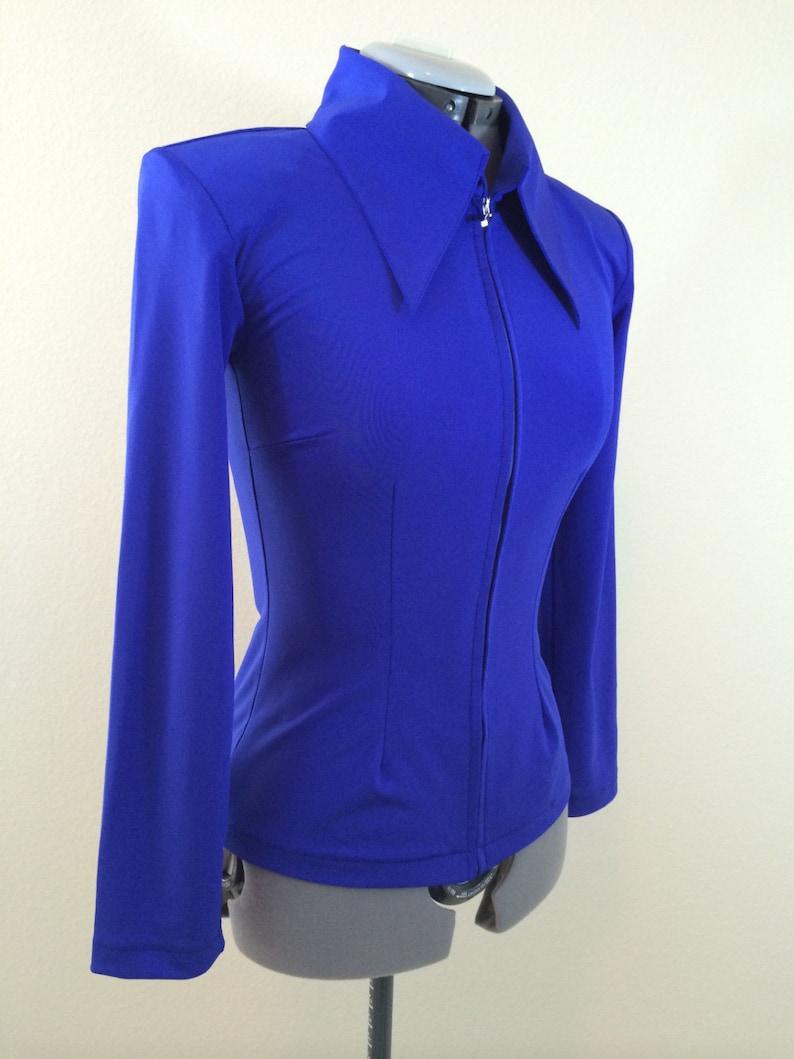 Royal Blue Create Your Own Western Show Pleasure Rail Shirt Jacket Clothes Showmanship Horsemanship Equilong