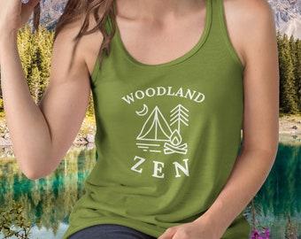 0db55155 Woodland Zen Yoga Shirt, Nature Lovers Gift, Yoga Lovers Gift, Nature  Adventure Wanderlust Shirt, Yoga Tank Top