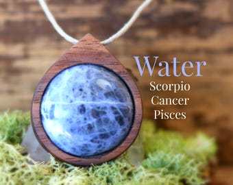 Zodiac Necklace Pisces Cancer Scorpio, Zodiac Jewelry, Zodiac Gift