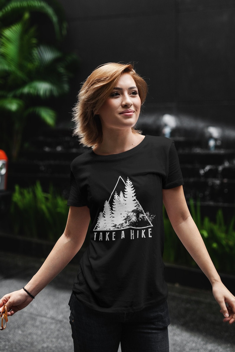 Yoga T Shirt Adventure Boho Clothing Womens Wanderlust Black
