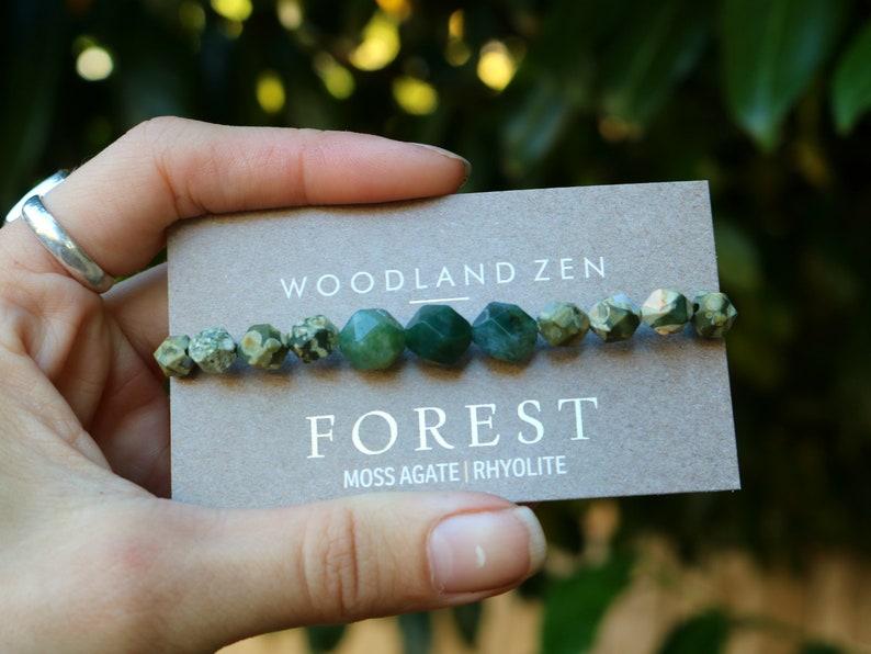 Woodland Zen Healing Crystal Bracelet Wanderlust Woodland image 0